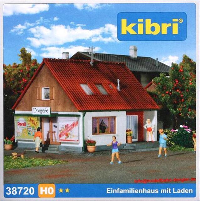 Kibri 38720 H0 - Einfamilienhaus mit Laden NEU & OvP