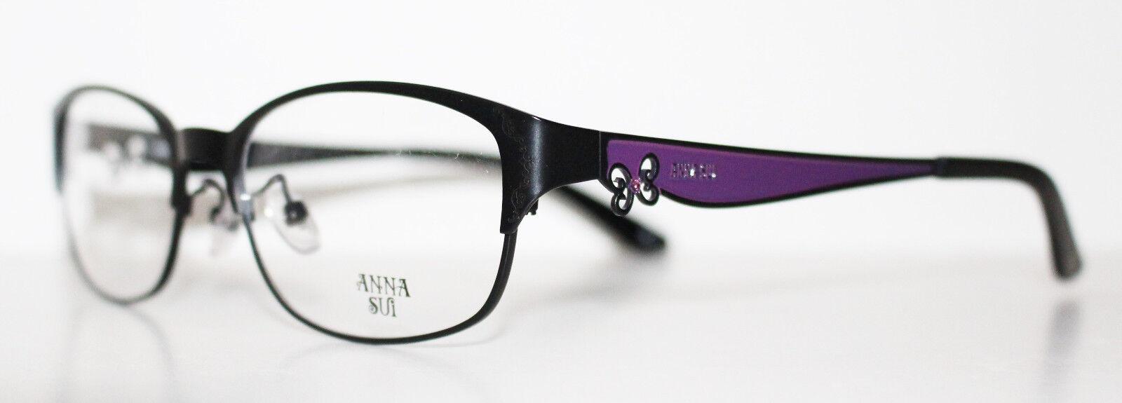 Anna Sui AS182 001 Black DESIGNER Optical Eyeglass Frame for Women ...