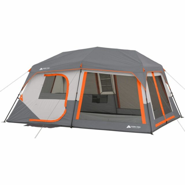 10-Person Instant Cabin Tent with Light Ozark Trail 14u0027 x 10u0027 x  sc 1 st  eBay & Ozark Trail Instant Cabin 10 Person 2 Room Tent With LED Light ...