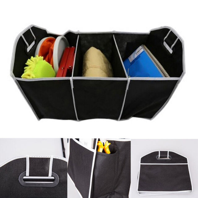 Folding Collapsible Extra Large Car Auto Trunk Organizer Bag With 3 Compartments