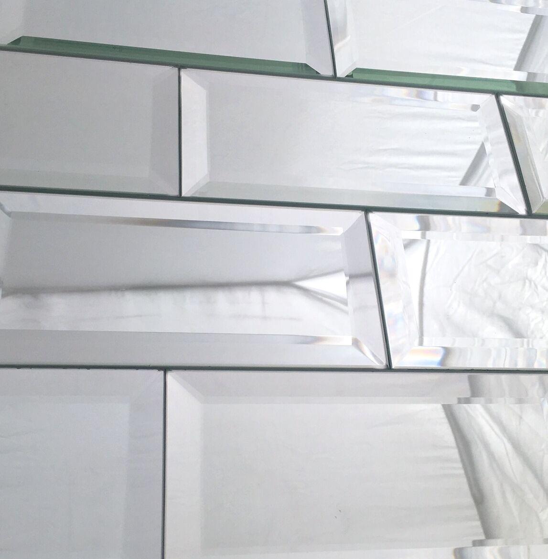 3x6 Wide Beveled Subway Mirror Tile Backsplash Wall Decorative Ebay