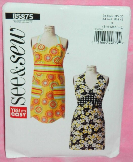 Sewing Pattern Butterick See Sew B5875 Easy Kitchen Ladies Aprons