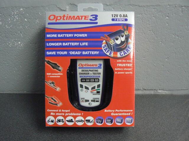 OPTIMATE 3 MOTORCYCLE BATTERY CHARGER OPTIMISER 12V