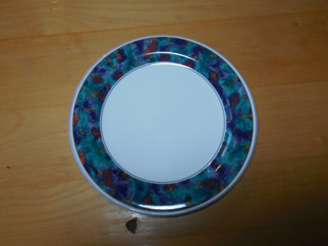 Sango JEWEL Deborah Mallow 6/90 353965 Set of 3 Salad Plates 7 1/ : sango jewel blue dinnerware - pezcame.com