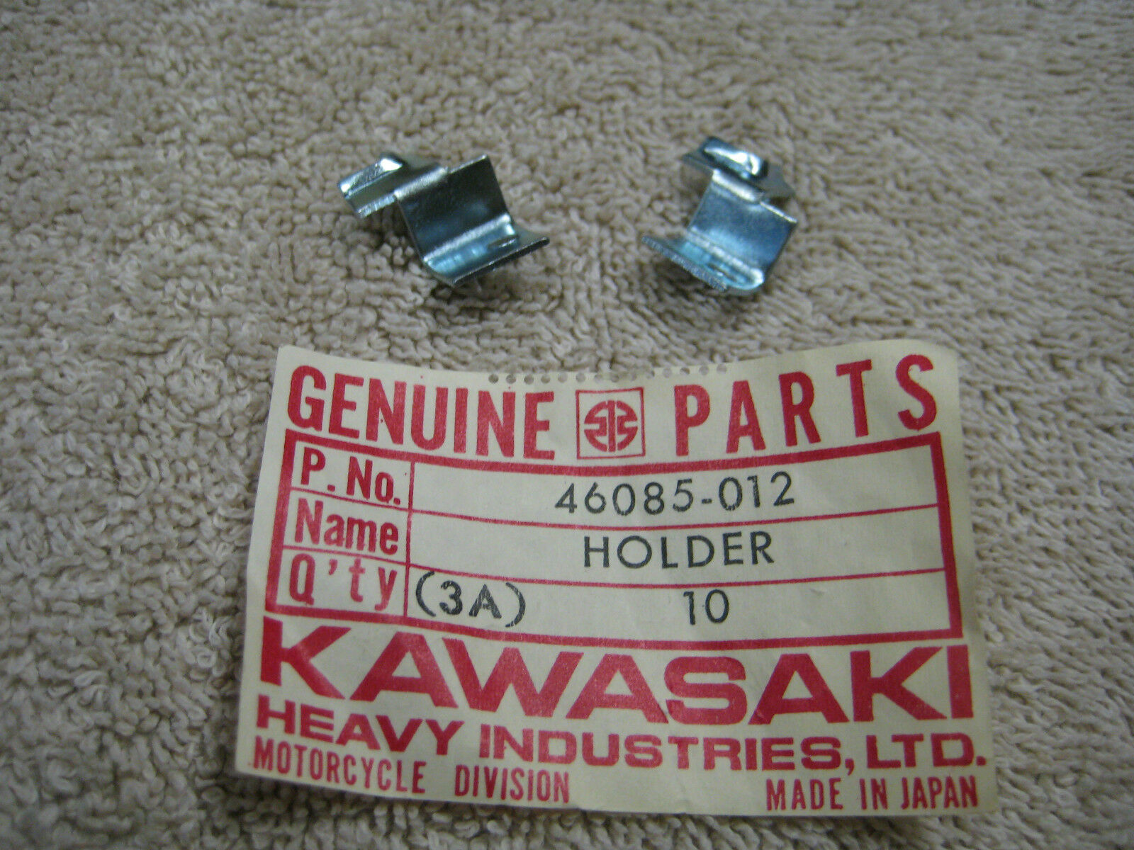Nos Oem Genuine Kawasaki Set Of 15 Wiring Harness Holder 46085 012 Holders Picture 1
