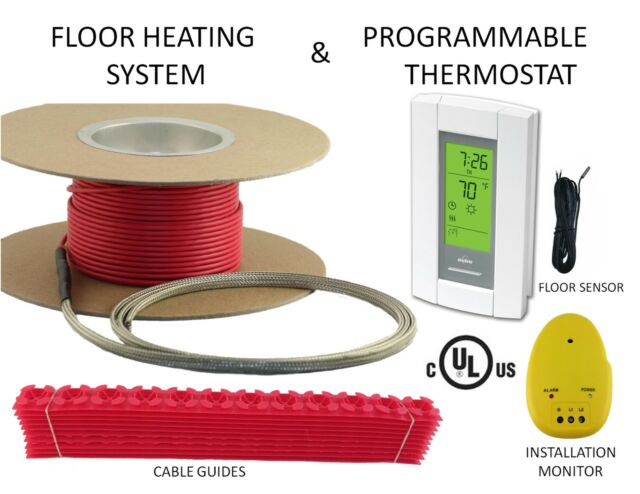 Electric Tile Radiant Warm Floor Heat Heated Kit 120v All Sizes