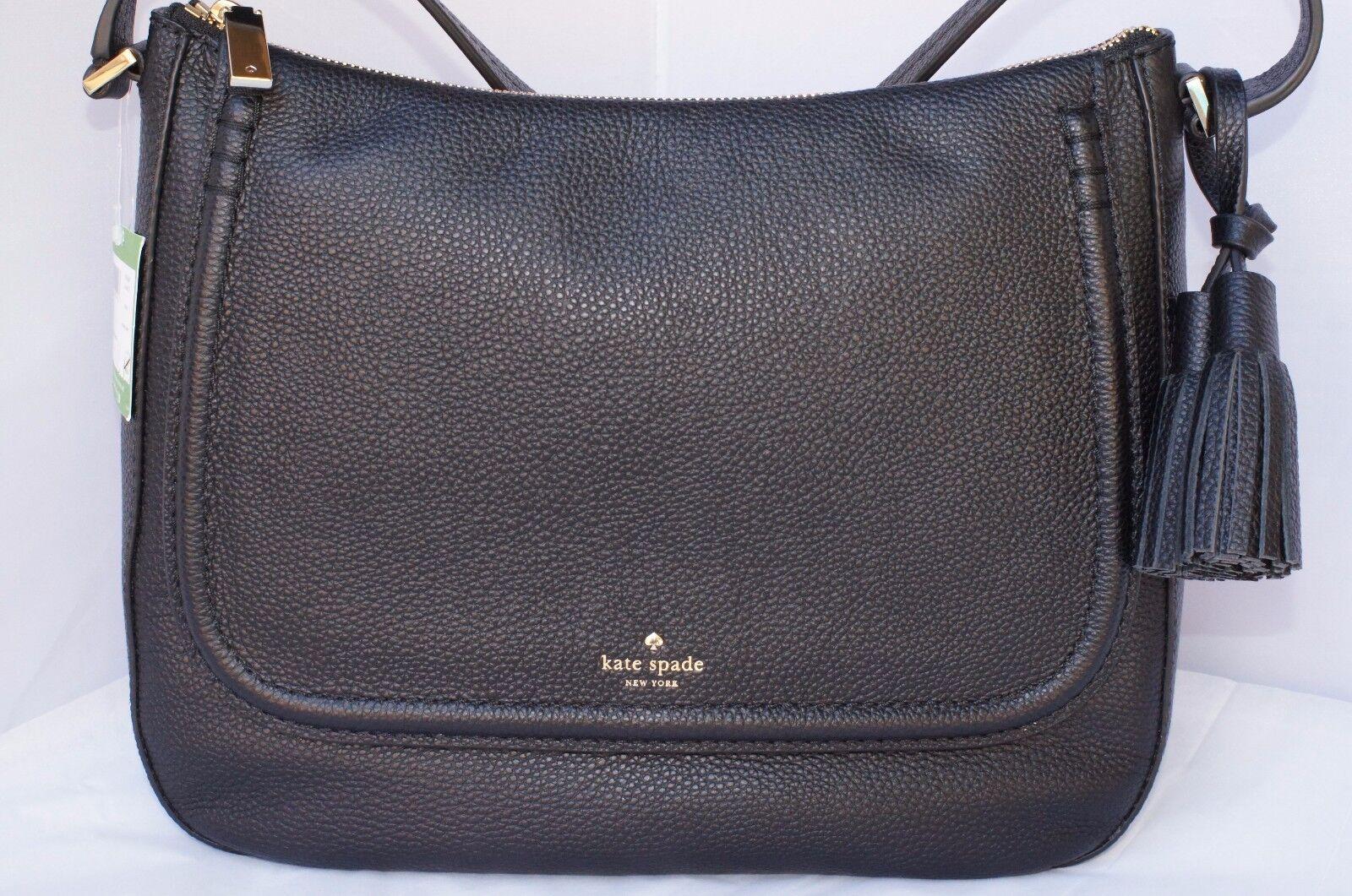 Kate Spade Orchard Street Leather Treana Hobo Shoulder Bag Black Pxru6847
