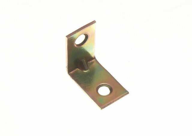 NEW CORNER BRACE ANGLE REPAIR BRACKET YELLOW ZINC PLATED STEEL 25MM ( LOTOF 8 )
