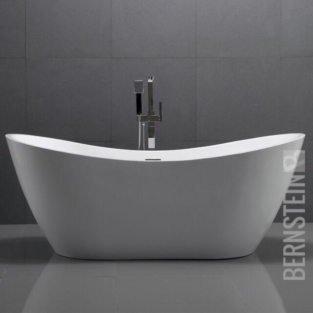 freistehende badewanne acryl viena wei 180 x 80 cm ebay. Black Bedroom Furniture Sets. Home Design Ideas