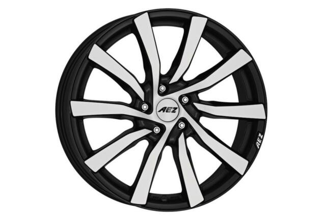 "18"" AEZ REEF MATTE BLACK POLISHED FACE ALLOY WHEELS ONLY BRAND NEW 5x120 RIMS"