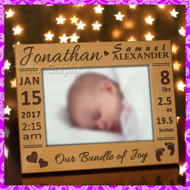 5x7 Personalized Custom Baby Picture Frame Gift Ebay