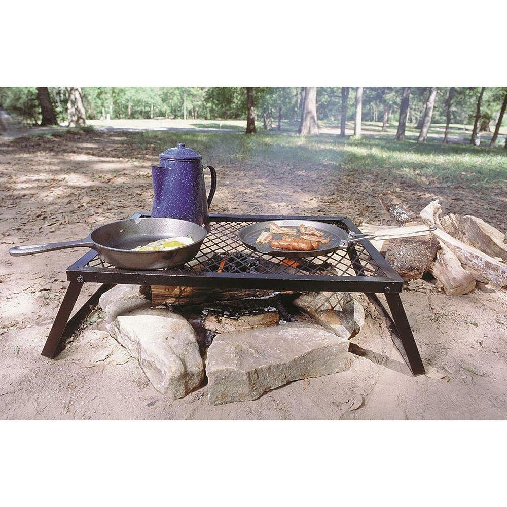 campfire grill grate cooking outdoor portable steel pit camping