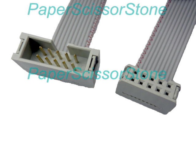 Ribbon Connector 10 : Mm pitch pin wire idc flat ribbon extension male