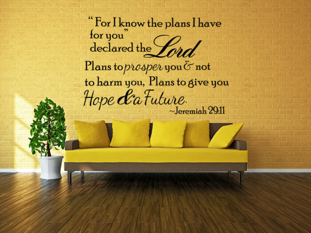 Bible Verse Scripture Removable Vinyl Decals Wall Stickers Art Home ...