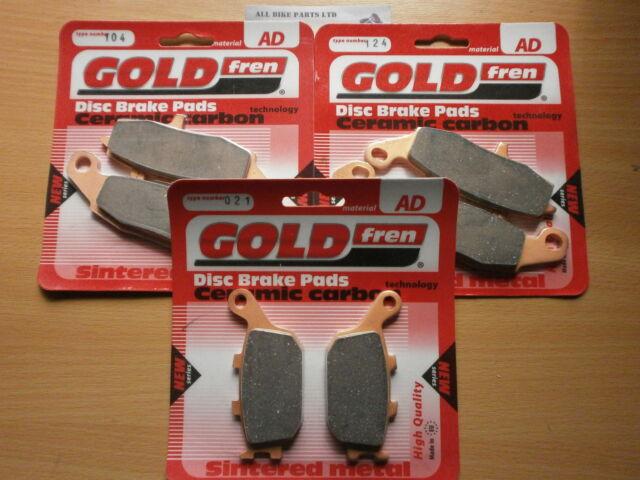 SINTERED FRONT & REAR BRAKE PADS (3x Sets) for: SUZUKI DL 650 V-STROM DL650