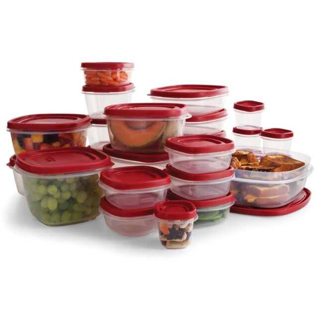 Easy Find Lids Clear Plastic Food Storage Container Set 50 Pc Microwave Safe