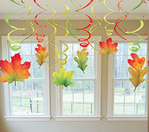 12 fall leaves leaf autumn harvest thanksgiving party for Autumn leaf decoration