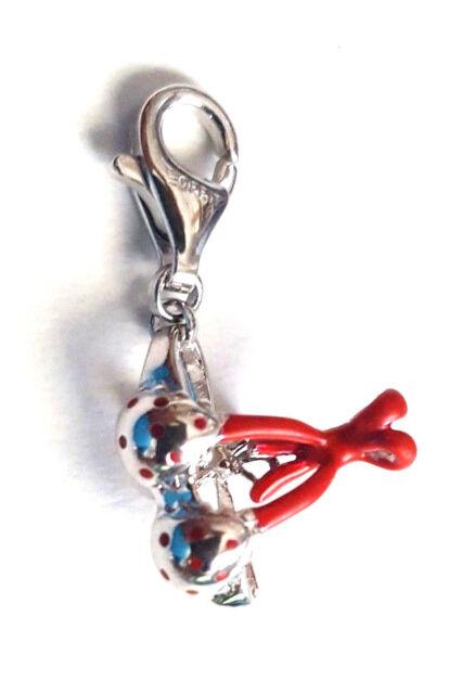 Esprit Damen Charm 925 Silber UVP-29,90 € Silber/Rot Bikini Top ESCH90894A000