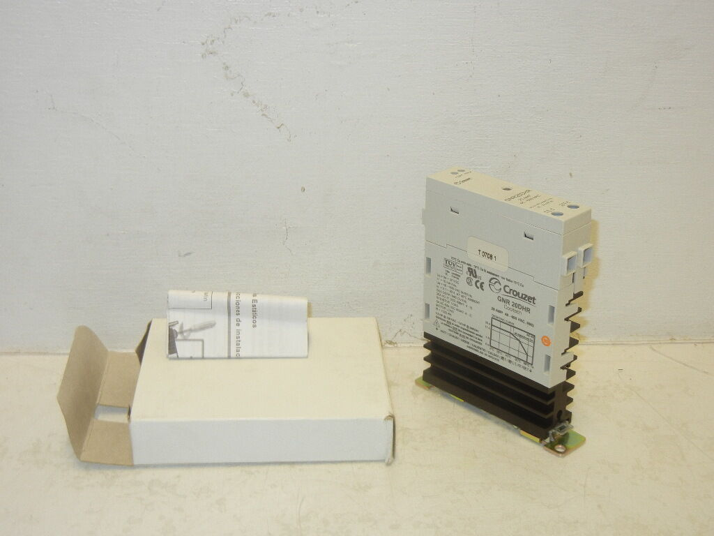 Crouzet Gnr 20dhr Cooltech Solid State Relay 20a 48 600 Vac Gnr20dhr Picture 1 Of 4