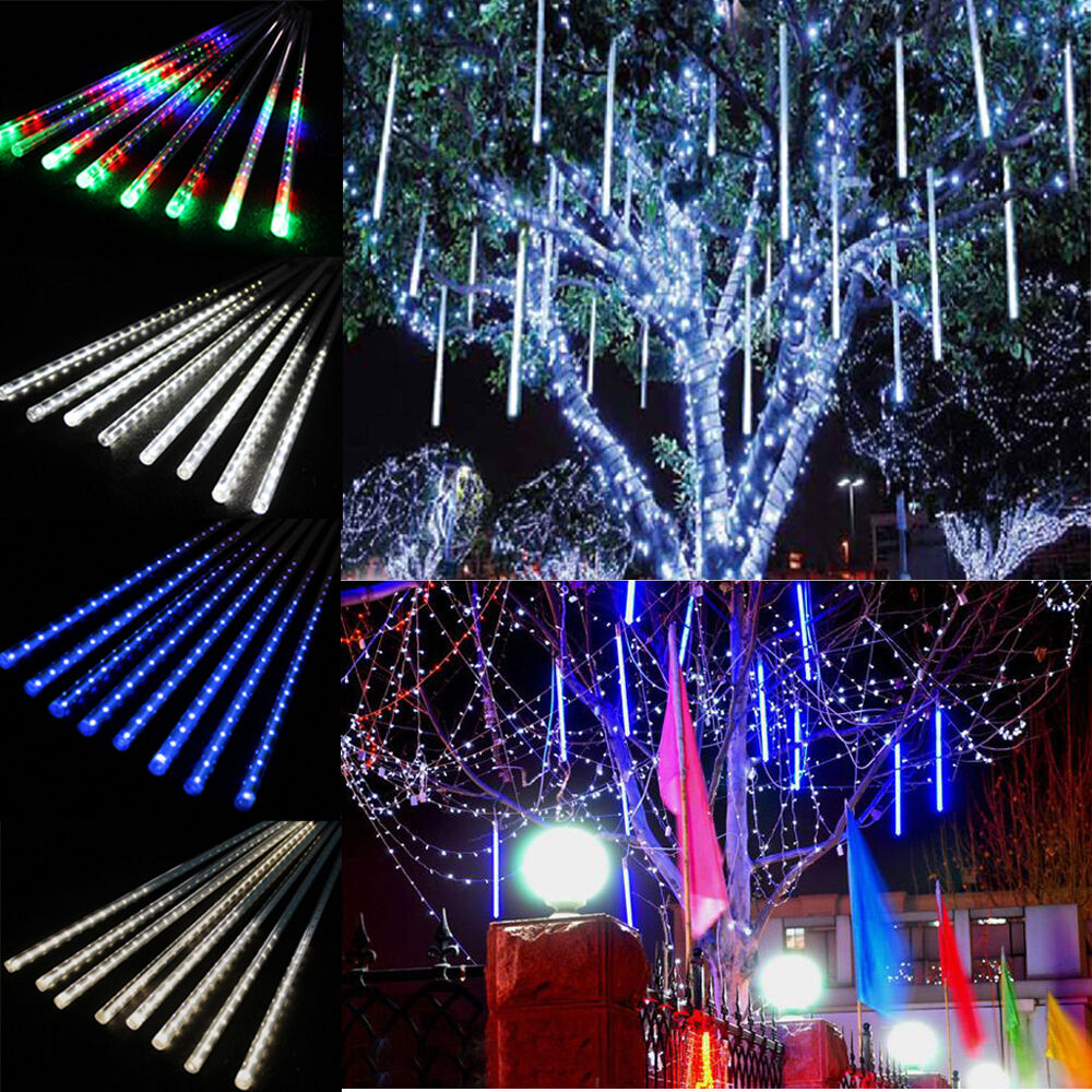 Falling Rain Drop Snow Fall String LED Cascading Xmas Tree Light ...