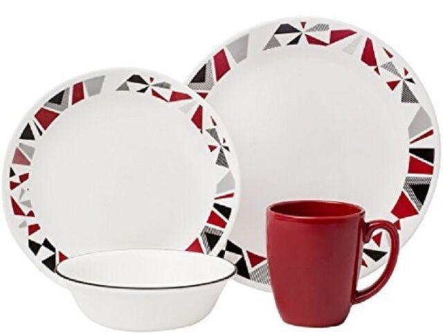 Corelle Livingware Mosaic Red 32-Piece Dinnerware Set Service /8 FREE 2DAY SHIP  sc 1 st  eBay & Corelle Livingware Mosaic Red 32-piece Dinnerware Set Service /8 ...