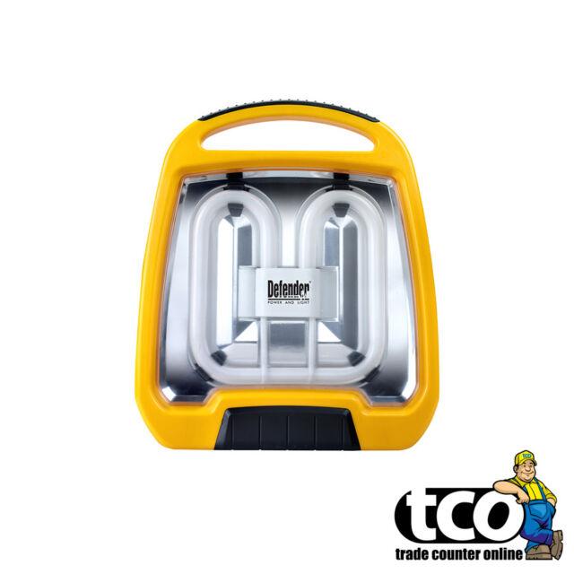 DEFENDER 38W Fluorescent Floor Light Work Lamp 110V OR 230V Site Lighting