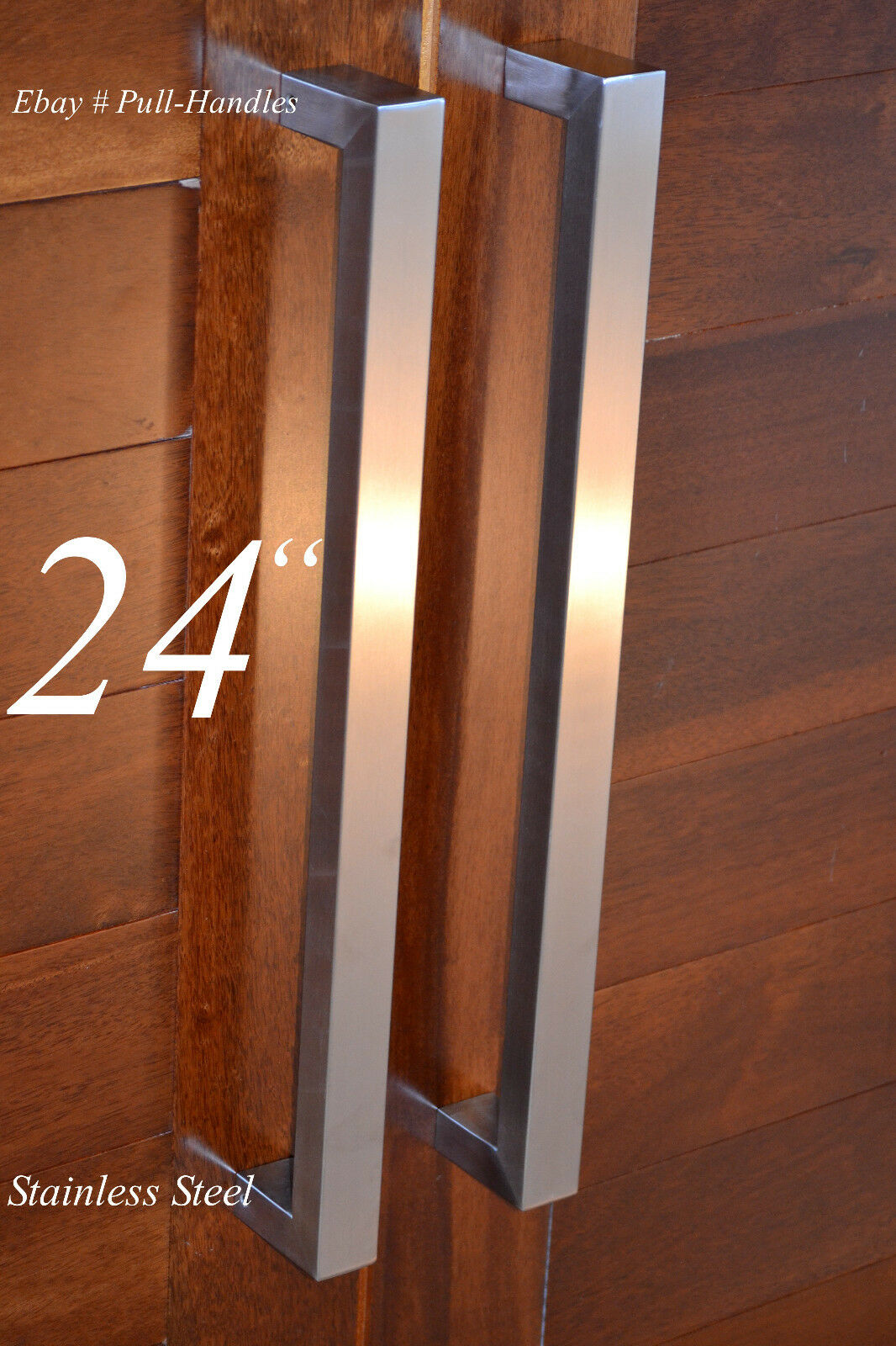 Square Pull Long Door Handle Entry Modern Pulls Stainless Steel ...