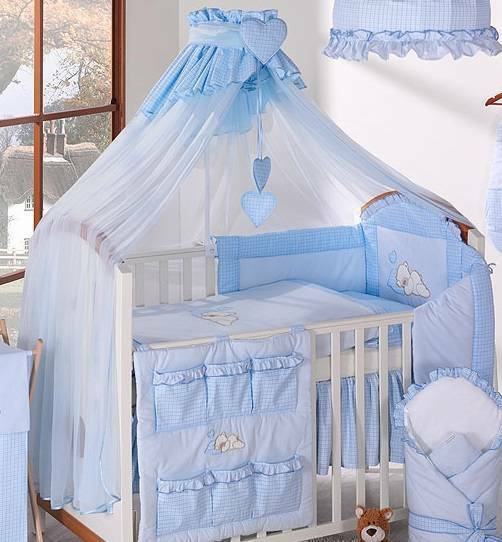 Coronet Baby Canopy Drape / Mosquito Net 480cm Cl& Rod Fits Cot Bed - Check Blue | eBay & Coronet Baby Canopy Drape / Mosquito Net 480cm Clamp Rod Fits Cot ...