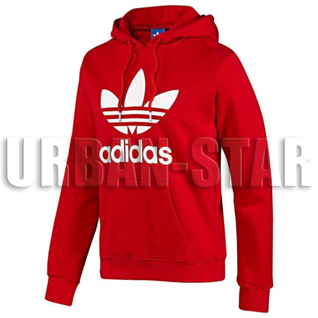 men's red adidas originals hoodie with trefoil properties lpl