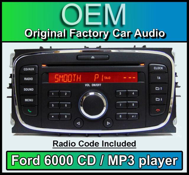 Ford 6000 Cd Mp3 Player Mondeo Car Stereo Headunit With Radio Rhebay: Ford Mondeo Radio Code At Elf-jo.com