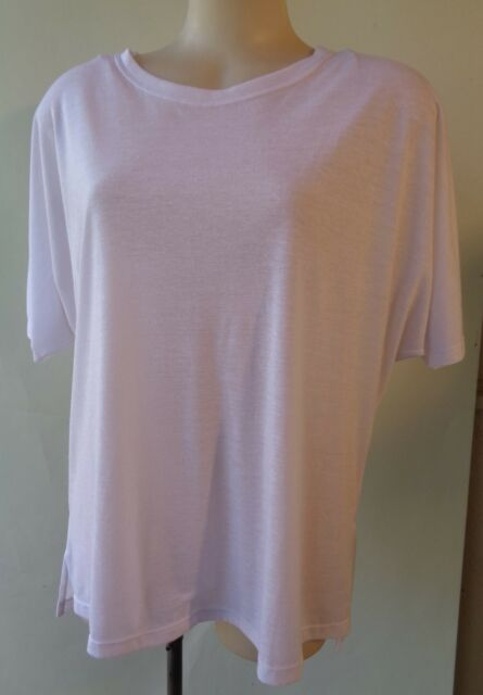 Brown Sugar size 12 linen blend white top NWT New short sleeve free postage
