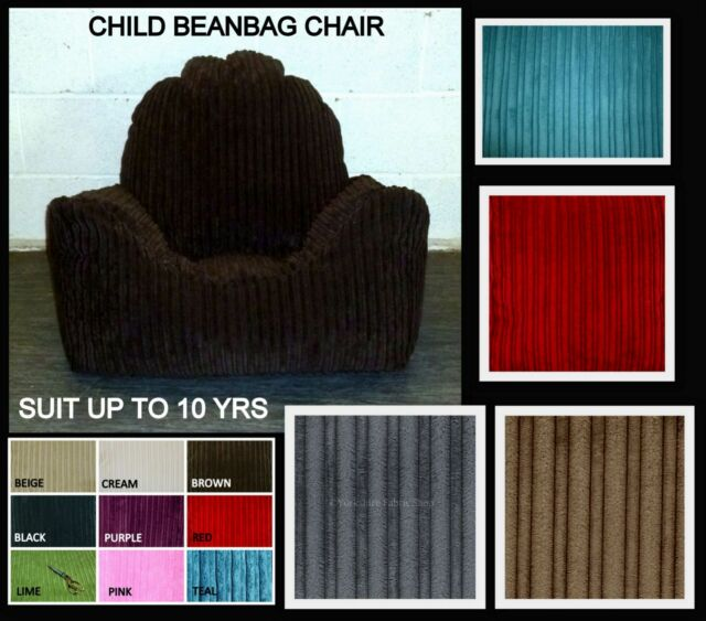 CHILD JUMBO CORD BEANBAG ARMCHAIR Childrens BEAN BAG GAMING CHAIR UP TO 10YRS