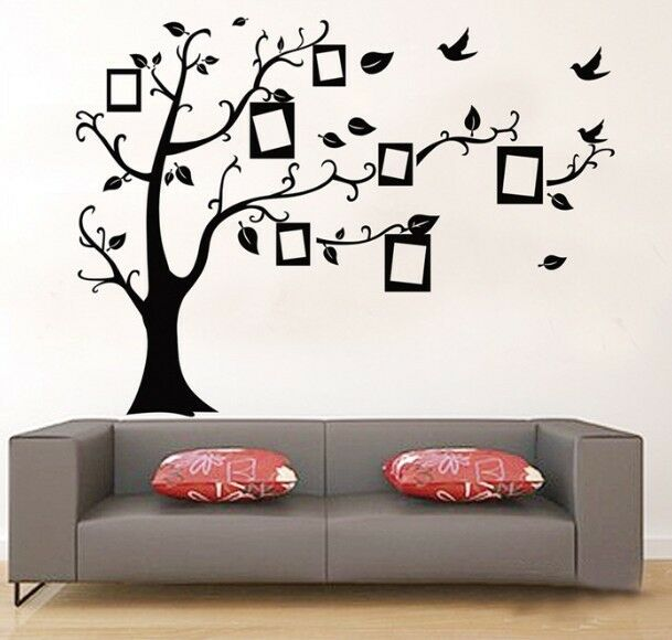 US Stock Family Tree Wall Decal Sticker Vinyl Photo Picture Frame ...