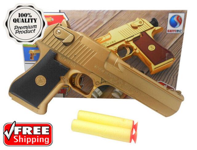Kids popular black desert eagle plastic toy guns EN71