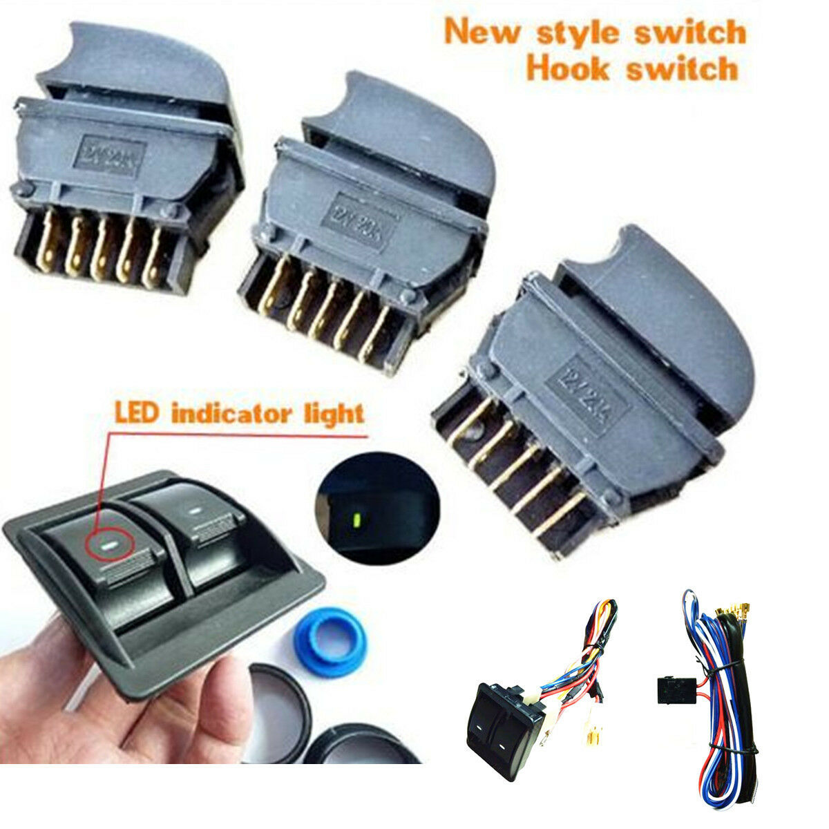 s l1600 12v car power window switch with wire harness universal kits universal 12 volt wiring harness at bakdesigns.co
