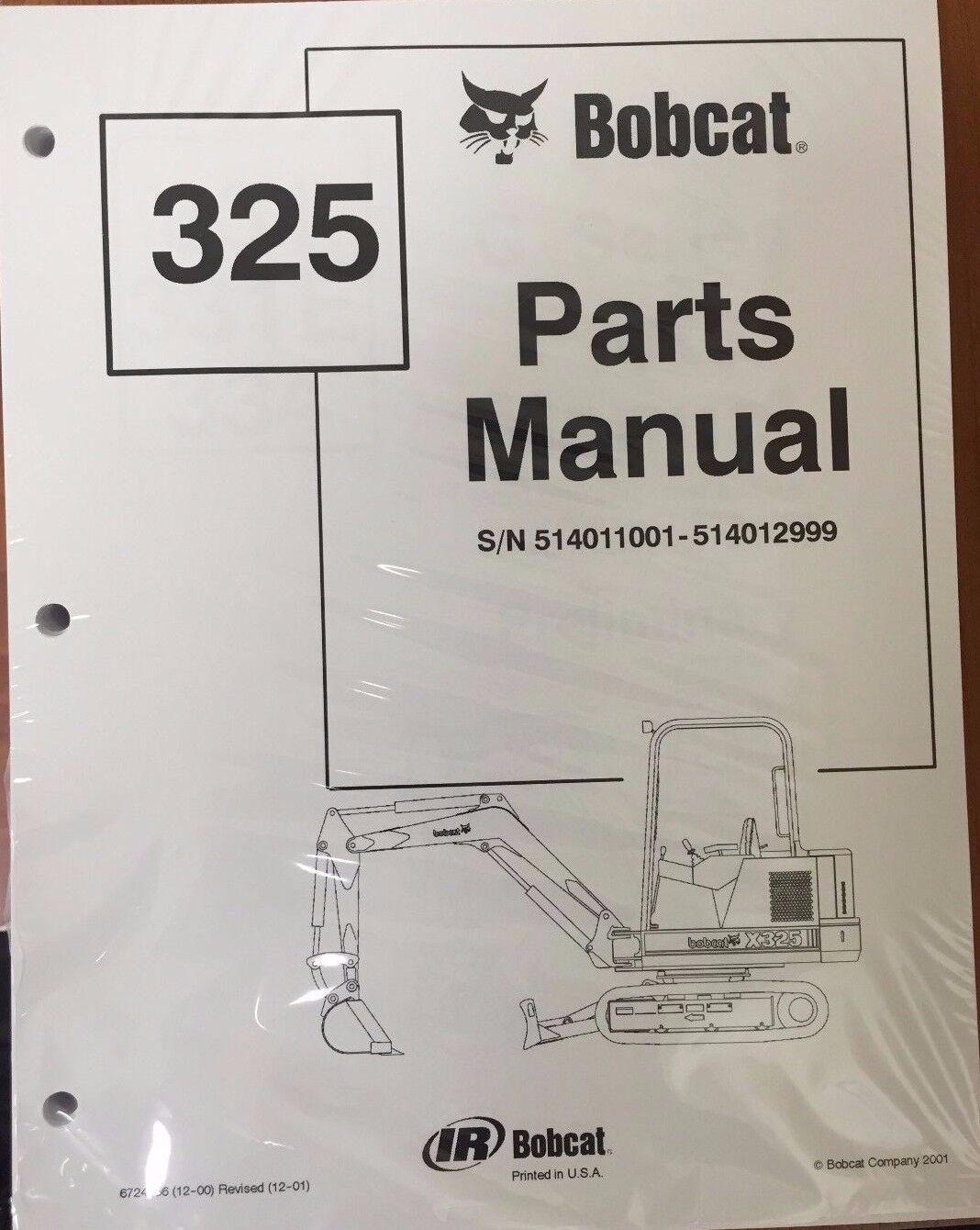 s l1600 bobcat 325 series parts catalog manual part number 6724456 ebay