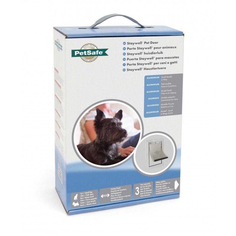 Staywell Petsafe 600 Small Dog Door 2 Way Aluminium White Cat Flap