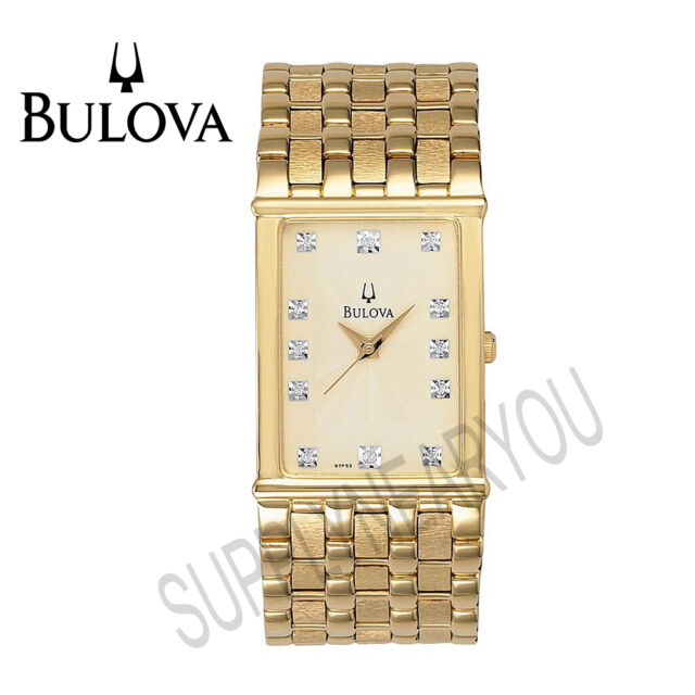 Bulova Mens Gold Diamond Watches