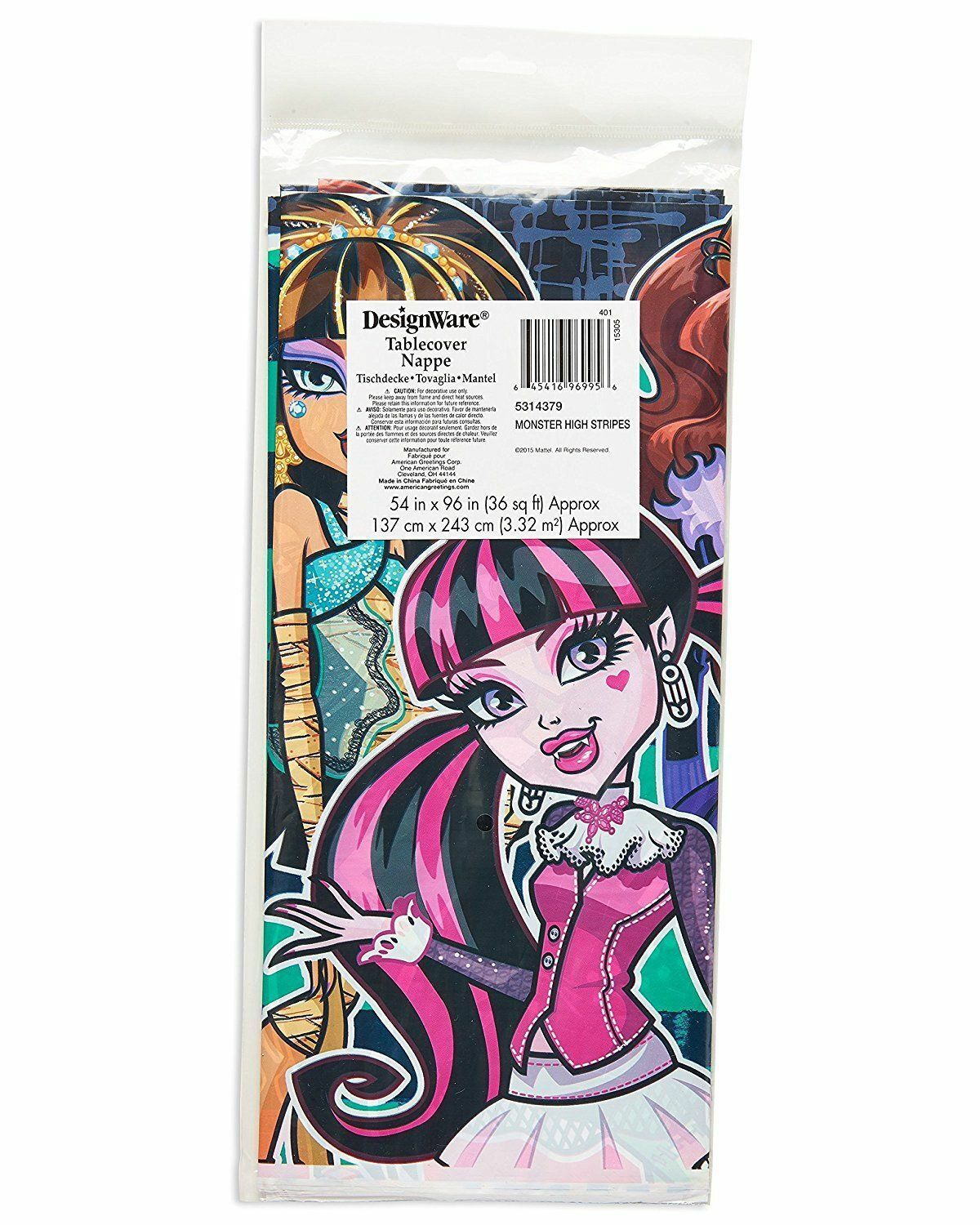 American Greetings Monster High Plastic Party Table Cover 54 X 96 Ebay