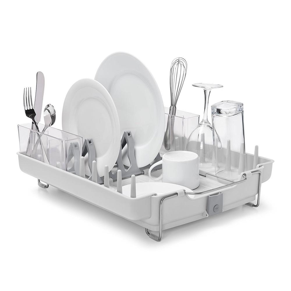 Picture 1 of 11 ...  sc 1 st  eBay & Kitchen Plate Dish Drying Rack Storage Utensil Holder Sink Drainer ...