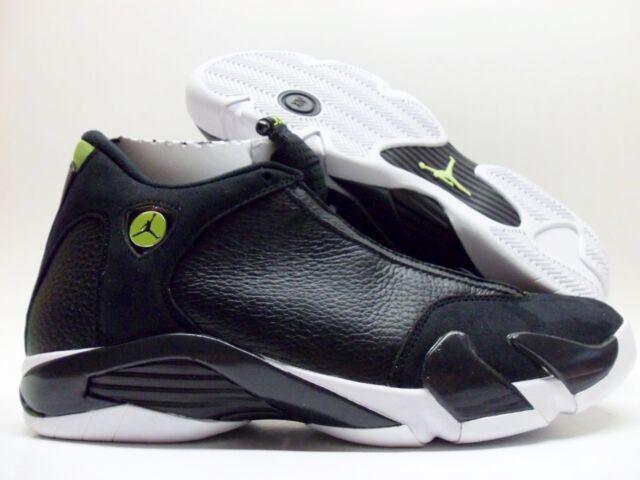 Nike Air Jordan Retro 14 XIV Black Vivid Green Indiglo Size 10.5 487471-005