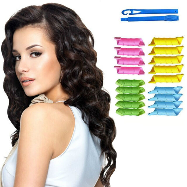 how to style hair with rollers magic hair curlers rollers styling set spiral ringlet 4146