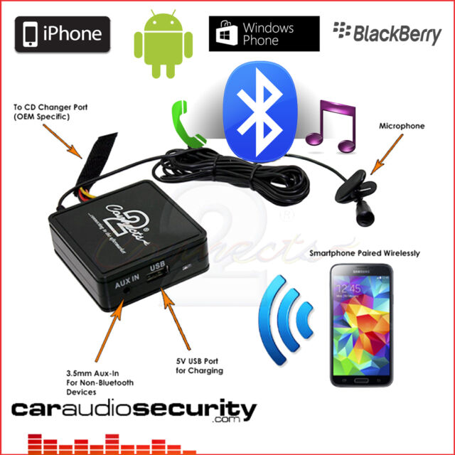 Seat Alhambra 2005> Bluetooth Music Streaming A2DP Adaptor Handsfree Wirless Kit