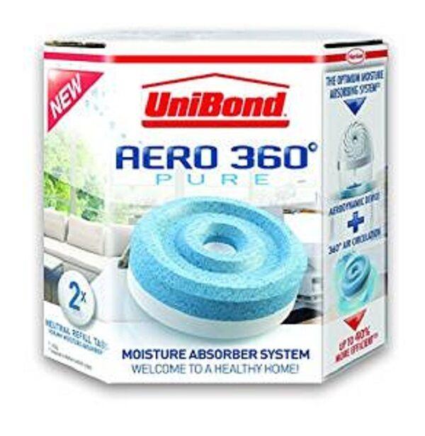 UniBond 1807921 Aero-360 Moisture Absorber Refills - Pack of 2 * BRAND NEW