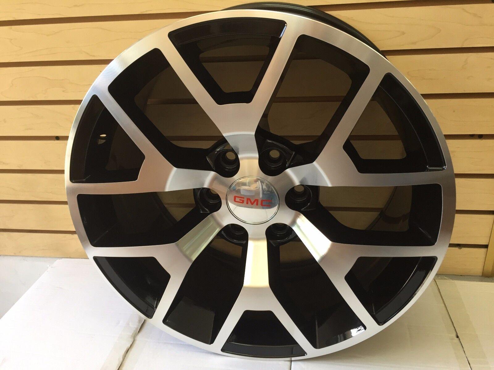 20 Inch GMC Black and Machined Wheels Rims Sierra Z71 Yukon SLT