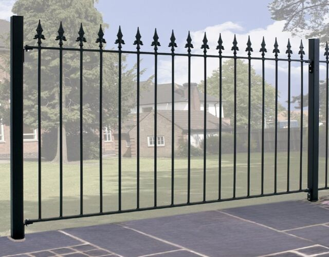 Gader Spear Top Fence Panel 1830mm GAP X 950mm H Wrought Iron Metal Fencing