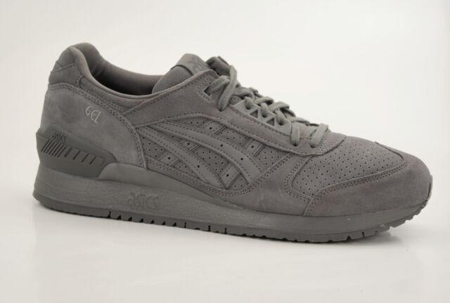 ASICS Gel respector CARBON Grigio Scarpe Sneaker Pelle RUNNER SUEDE h721l 9797