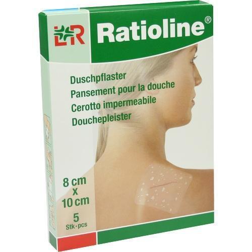RATIOLINE aqua Duschpflaster 8x10 cm 5 St PZN 1805415
