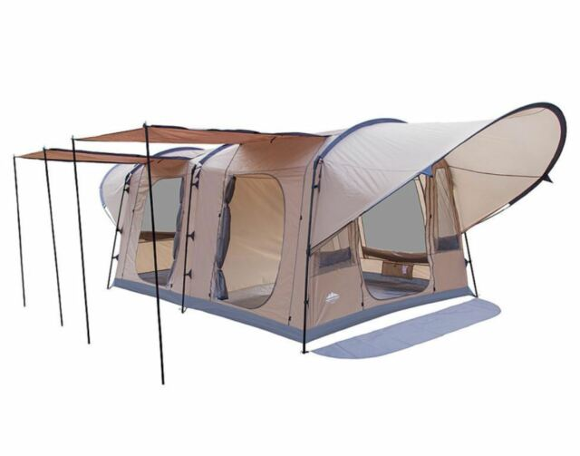 Family C&ing Tent 8 Person 13x10 Outdoor Waterproof 2 Rooms Awnings u0026 Canopy  sc 1 st  eBay & Northwest Territory Woodlands Tent 8 Person 2 Room Camping Gear ...