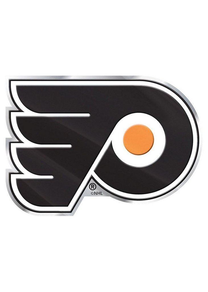 Philadelphia Flyers Raised 3d Color Metal Auto Emblem Home Decal Nhl